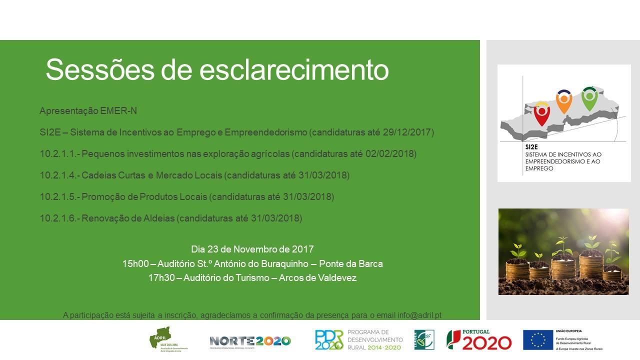 [23 Novembro] Sessões de esclarecimentos – EMER-N, PDR 2020 e SI2E